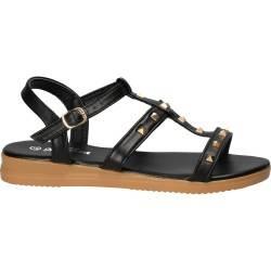 Sandale moderne, negre cu barete subtiri, marca Mellisa