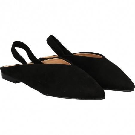 Pantofi de vară velur, negri, marca Mellisa