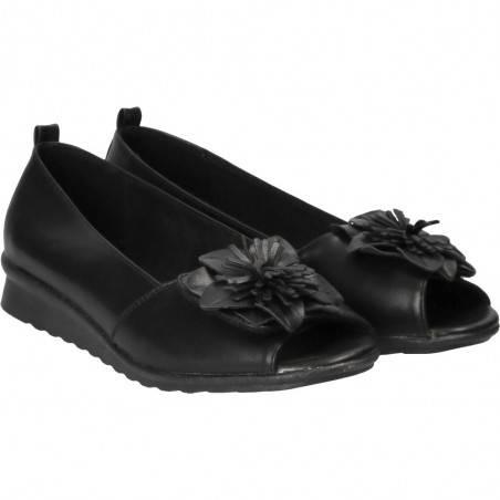 Pantofi comozi decupati, cu floare, marca Soft Space