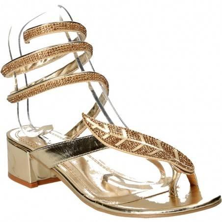 Sandale sneak style, aurii, pentru femei