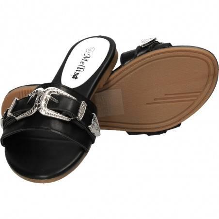 Papuci cu decoratiuni vintage, pentru femei