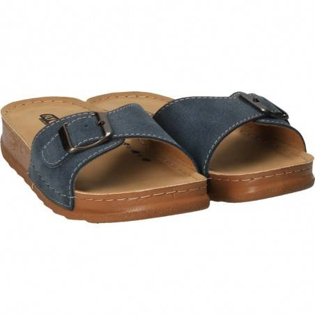 Saboti dama albastru marca Fly Shoes VGT605-28B