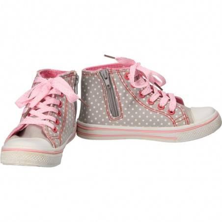 Pantofi Sport Fete Gri cu Inimioara roz