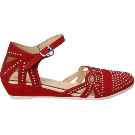 Sandale rosii cu strasuri pentru fetite