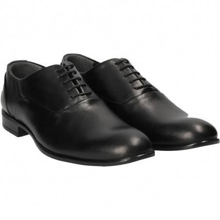 Pantofi clasici negri, Da Vinci, pentru barbati