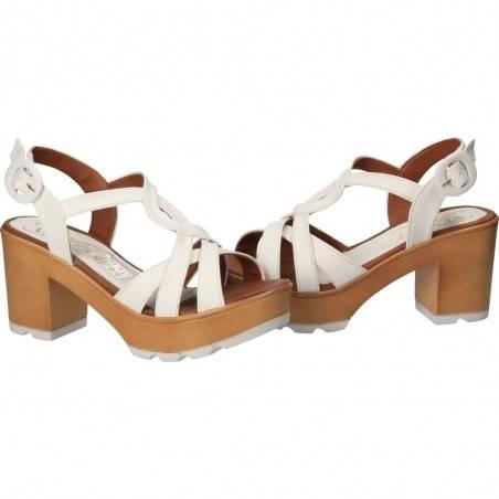 Sandale albe de dama, cu platforma si toc, marca Ventes