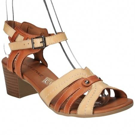 Sandale moderne din piele naturala, de dama, Donna Style