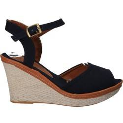 Sandale fashion de dama, bleumarin, din canvas