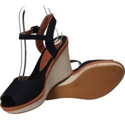 Sandale fashion de dama, bleumarin, din canvas