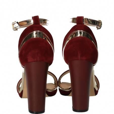 Sandale de gala, bordeaux, pentru femei, marca Ventes