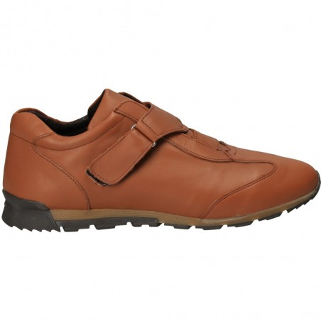 Pantofi ajustabili, Energy, din piele, maro deschis