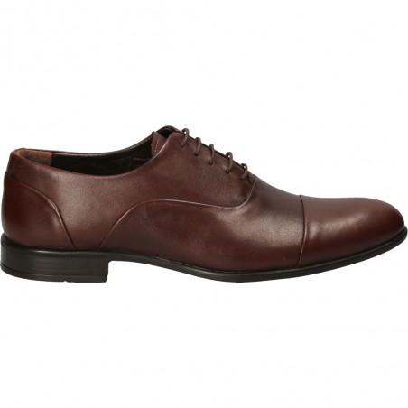 Pantofi barbatesti, Da Vinci, maro, din piele naturala