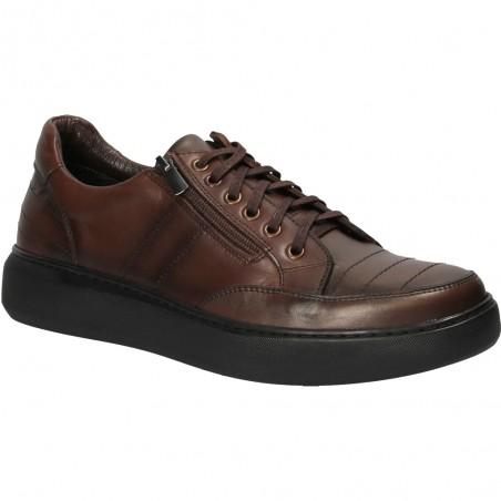 Pantofi moderni cu talpa groasa, din piele naturala