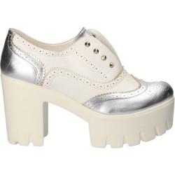 Pantofi fashion, albi, cu...