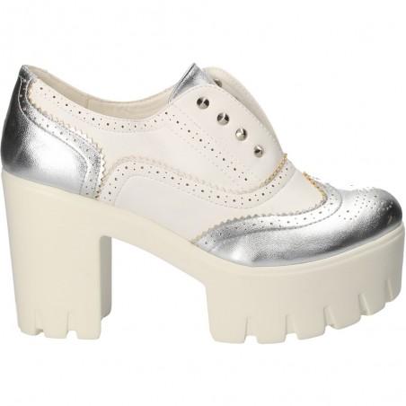 Pantofi fashion, albi, cu platforma mare