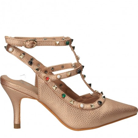 Pantofi de vara, cu inchidere pe glezna