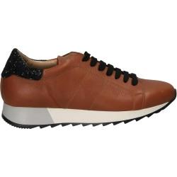 Pantofi din piele maro, cu...