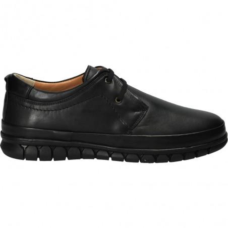 Pantofi Barbatesti, negri, din piele