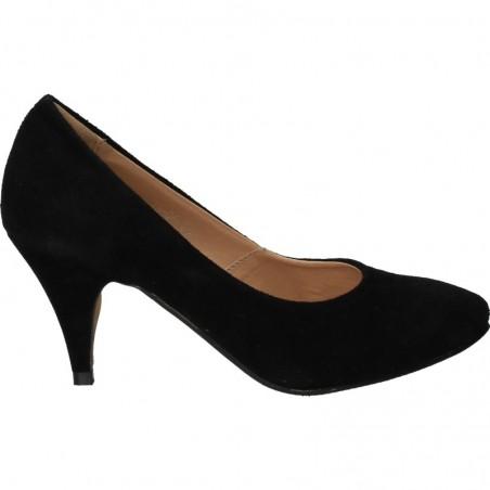 Pantofi de gala, cu toc mediu, din velur