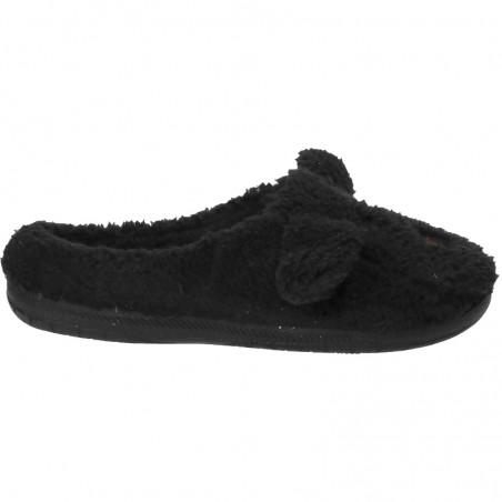 Papuci de casa Dama Negri, din blana
