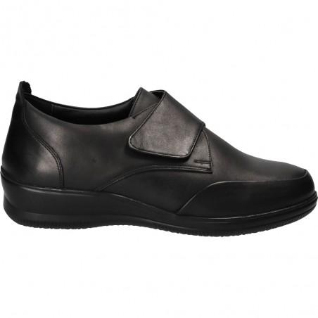 Pantofi cu platforma si scai, piele naturala
