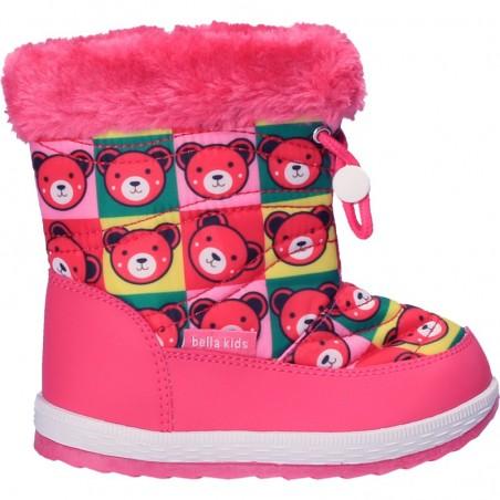 Cizme roz, din fas, pentru fetite