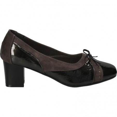 Pantofi office, gri, cu toc mediu, pentru femei