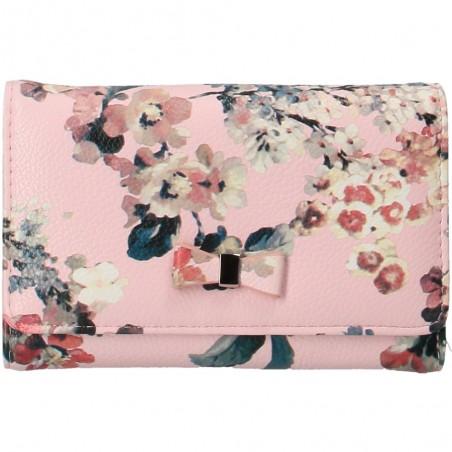 Portmoneu floral roz