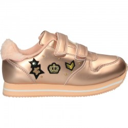 Pantofi roz metalizat...