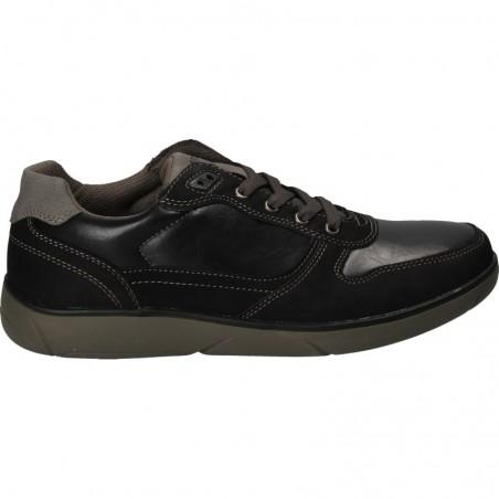Sneakers barbatesti, negri, piele ecologică