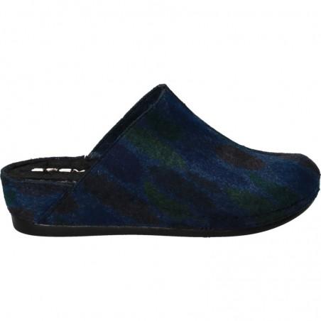 Papuci cu platforma, din pasla, pentru femei