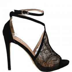 Sandale Femei Negre cu Toc...
