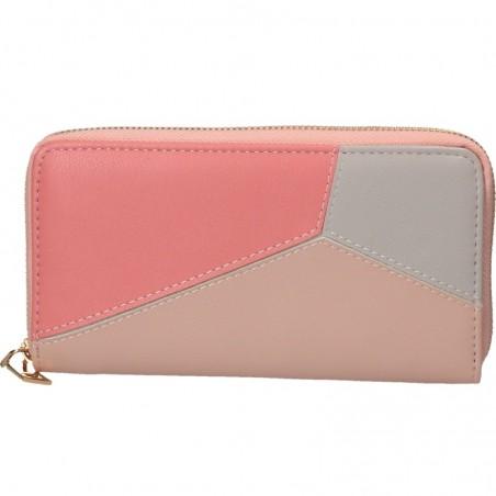 Portofel modern, de dama, culoarea roz