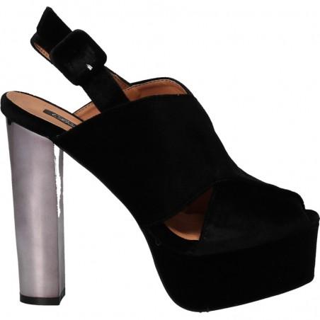Sandale fashion de dama, cu toc si platforma