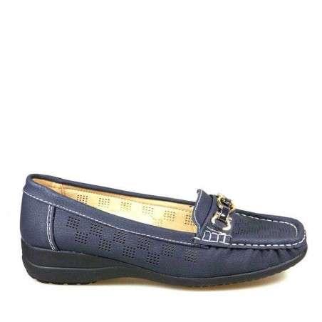 Pantofi femei clasici, perforati, blue