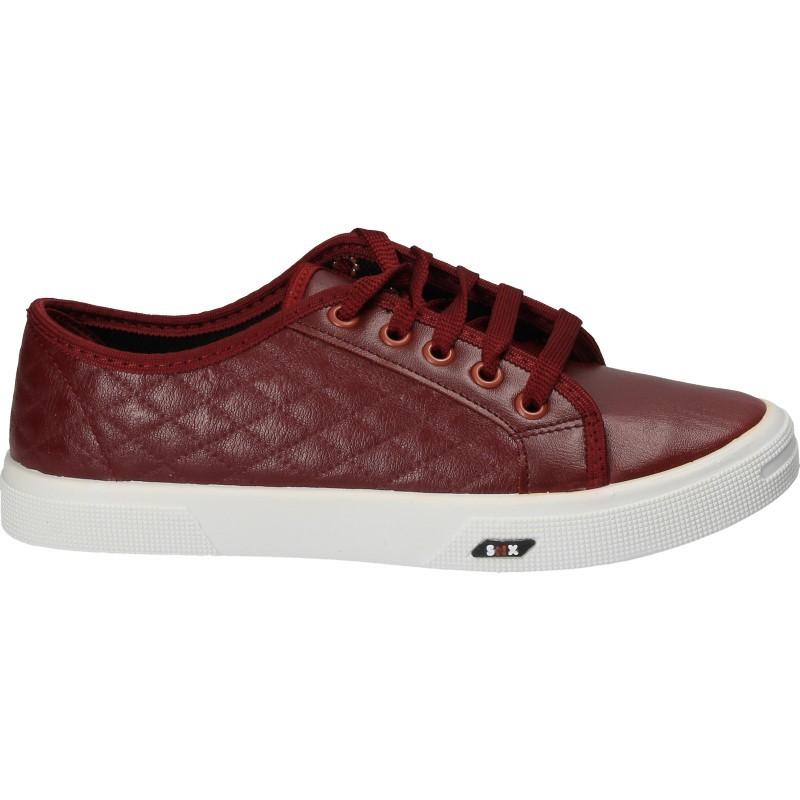 Pantofi casual bordo