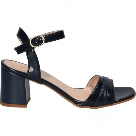 Sandale elegante, cu toc robust