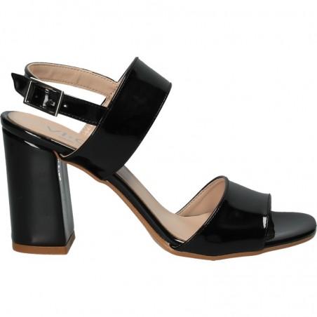 Sandale negre, de lac, pentru tinute de gala