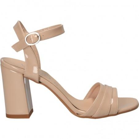 Sandale bej de lac, pentru tinute elegante