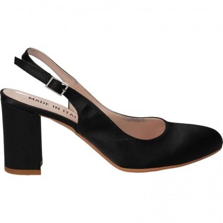 Pantofi eleganti, din satin negru