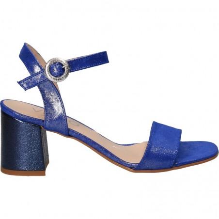 Sandale fashion, albastre, cu toc mic
