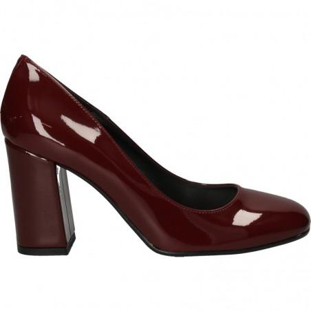 Pantofi eleganti, bordeaux, cu toc inalt