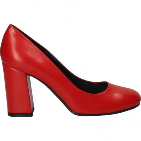Pantofi fashion, rosii, stil elegant, pentru femei