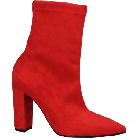 Cizme rosii, de primavara, stil elegant