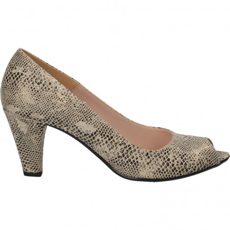 Pantofi eleganti, decupați, imitatie piele sarpe
