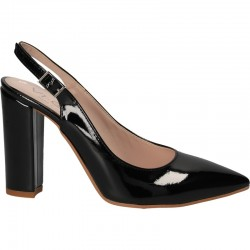 Pantofi de lac negru
