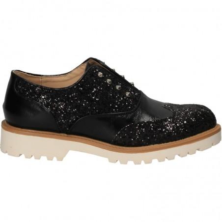 Pantofi de dama, stil Oxford, cu sclipici