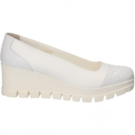Pantofi piele naturala, cu platforma