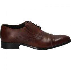 Pantofi din piele maro,...