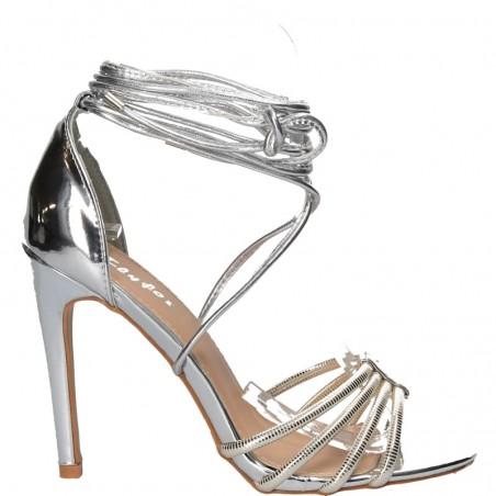 Sandale glamour, cu toc inalt